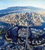 aerial view of city of Vancouver